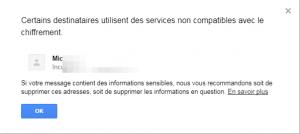 gmail chiffrement
